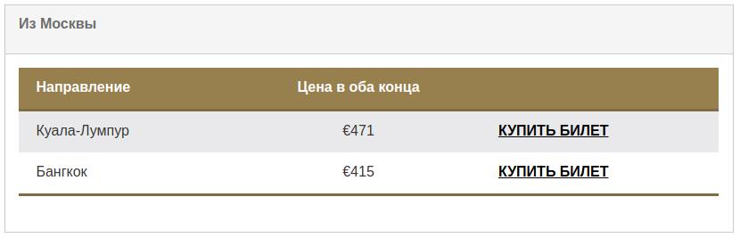 AirAstana из Москвы